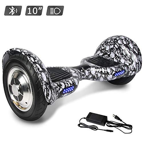 RCB Hoverboard scooter elettrico autobilanciante da 10 pollici con Bluetooth