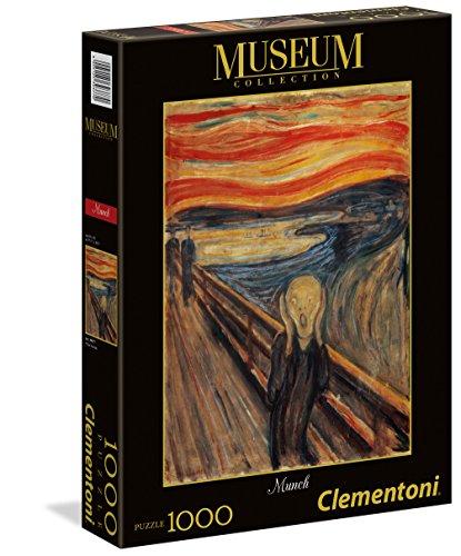 Clementoni - 39377 - Museum Collection Puzzle - Munch, L'Urlo - 1000 Pezzi