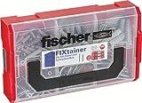 fischer FIXtainer - SX-Dübel- und Schrauben-Box - Für die Befestigung in Beton-/Voll- und Lochbaustoffen - SX 6 x 30, 8 x 40, 10 x 50 - 210 Teile - Art.-Nr. 532891