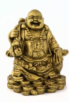 Figura de Buda – monje budista de acabado de latón decoración Estatua accesorio decorativo objeto decorativo para decorar el salón hogar dispositivo objeto Asiatica pisapapeles