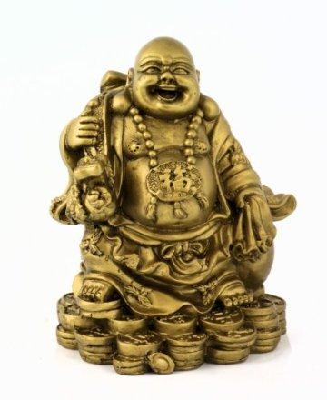 Figura de Buda - monje budista de acabado de latón decoración Estatua accesorio decorativo objeto decorativo para decorar el salón hogar dispositivo objeto Asiatica pisapapeles 3