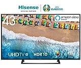 Hisense H43BE7200 108 cm (43 Zoll) Fernseher (4K Ultra HD, HDR, Triple Tuner, Smart-TV, Mittelfuß)