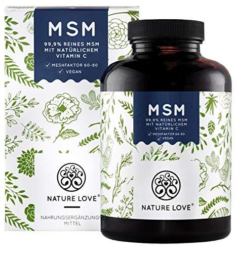 Extra hochdosierte MSM Tabletten mit natürlichem Vitamin C