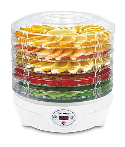 SUNTEC Essiccatore FDH-8595 Dörthe digital [Essiccazione delicata di alimenti con 5 livelli,...