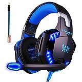 ArkarTech Cuffie Auricolare Gaming Gioco Headset G2000 con Microfono Stereo Bass LED Luce Regolatore Di Volume Per PC