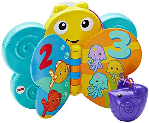Infant- Disney Mariposa Libro baño, Azul, Colores Surtidos (Mattel Spain CMY31)