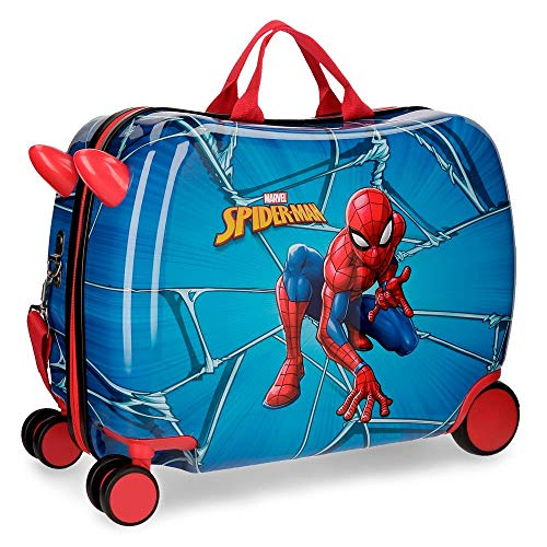 Spiderman Black multi-directional wheeled children's suitcase