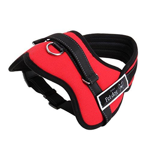 Arn茅s ajustable al pecho para perro con acolchado suave, ayuda para el adiestramiento de paseos sin tirones