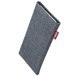 Kaufen fitBAG Jive Grau Handytasche Tasche aus Textil-Stoff mit Microfaserinnenfutter für Apple iPhone X/XS | Hülle mit Reinigungsfunktion | Made in Germany