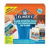 Elmer's - Kit iniciación slime con pegamento , pegamento transparente, barras pegamento con purpurina y solución activadora líquido mágico para slime, 8unidades