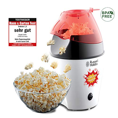 Russell Hobbs 24630-56 Popcornmaschine Fiesta, Heißluft Popcorn Maker, ohne Fett & Öl, inkl....