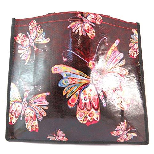 Allen Designs [P5658] - Diseño de bolsa de compras 'Allen Designs' mariposas - 46x40x19 cm.