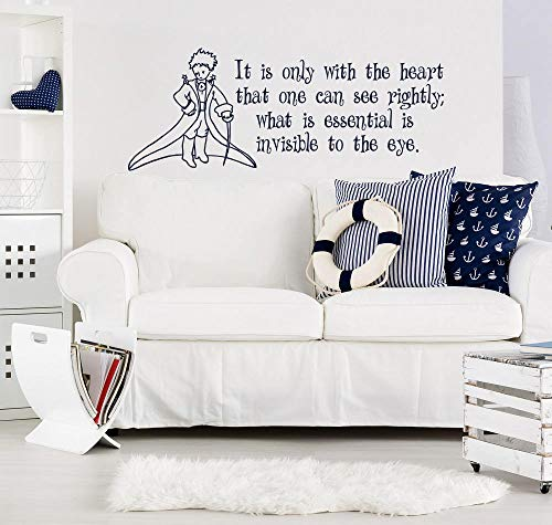 ljradj Cartoon Little Prince Nursery Decalcomanie da Muro It Only Heart Little Prince Cita Vinyl...