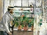 Póster 40 x 30 cm: Manet on The Isle of Wight de Berthe Morisot - impresión artística, Nuevo póster artístico