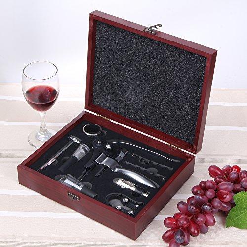 tire bouchon gwcleo luxueux ouvre bouteille de vin manuel tire bouchons levier avec 9 pi ces. Black Bedroom Furniture Sets. Home Design Ideas
