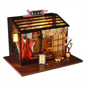 xiangpian183 Estilo Retro portátil de Madera DIY Cottage House Model Dolls 'House Dolls & Accessories
