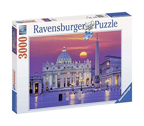 Ravensburger Italy Puzzle 3000 Pezzi Basilica di San Pie, Multicolore, 4005556170340