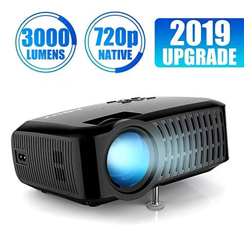 Proiettore, ABOX A2 Videoproiettore Risoluzione Nativa HD 1280*720P, 3000 Lumen Mini Proiettore...