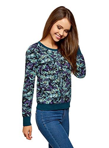 oodji Ultra Damen Bedrucktes Sweatshirt Basic, Türkis, DE 38 / EU 40...