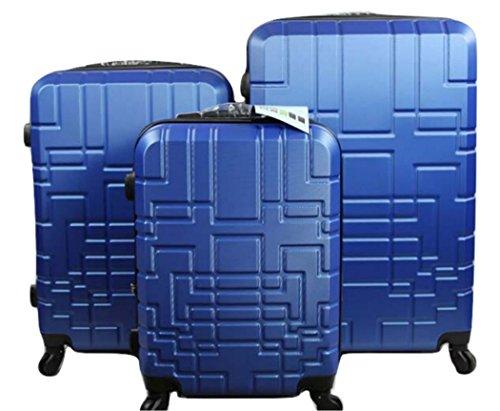 Orlacs modello Dublin 5 -Set valige Trolley da 3 pezzi,doppia ZIP ampiezza , materiale ABS e...