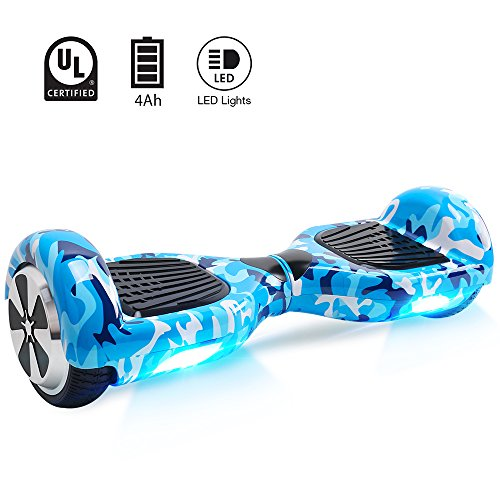 BEBK Hoverboard 6.5' Smart Self Balance Scooter Autobilanciato Skateboard con 2 * 250W Motore, LED,...
