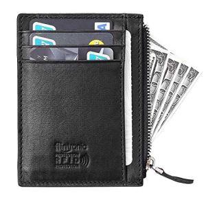Portacarte Vera Pelle con Protezione RFID