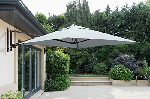 The Norfolk Leisure 2m cantilever parasol is a wall mounted parasol that you can purchase for your home. If the thought of having a freestanding unit does not appeal to you then a wall mounted version like this one is what you need.