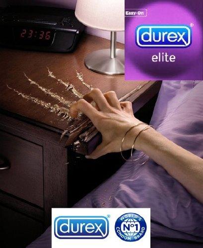 Durex Paquet de 48 préservatifs ultra-fins Elite extra-lubrifiés