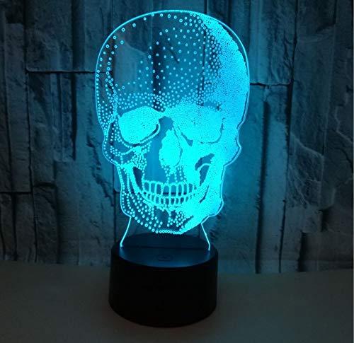 TYTLYA 3D Luz Nocturna Niño Led Lámpara De Mesa Alimentada por USB 7 Colores Cambia Automáticamente Toque Interruptor Azada
