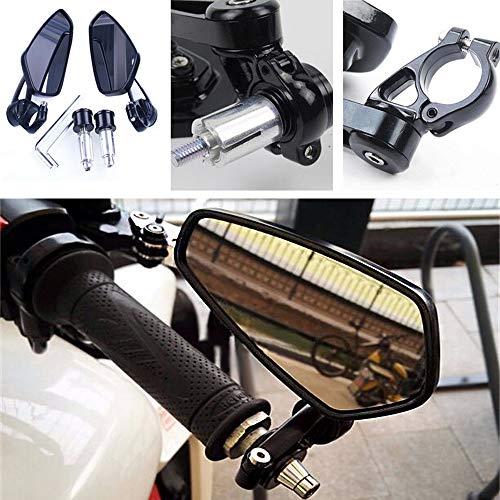 Schwarz Universal Motorrad Spiegel Rückspiegel Custom 7/8 Zoll 22 mm Lenker Rund für Cruiser Fahrräder Fahrräder 1