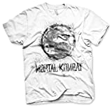 Officially Licensed Merchandise Mortal Kombat Dragon T-Shirt (White), XX-Large