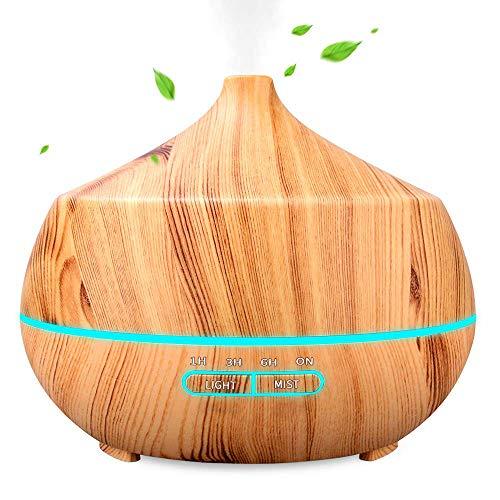 Aroma Diffuser, INSMART 400ml Luftbefeuchter Ultraschall Duftlampe, Ultra Leise BPA-Free Öl Diffuser mit 7 Farben LED für Baby, Schlafzimmer, Raum, Büro,Yoga, Salon, Spa,