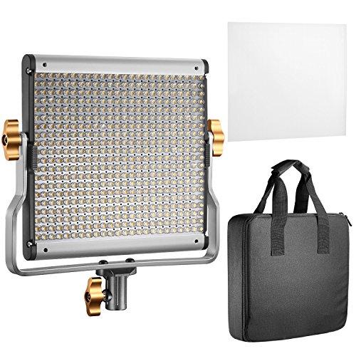 Neewer LED Video Light Bi-colore Regolabile con Staffa U Kit per Studio, Ripresa Video YouTube, 480...
