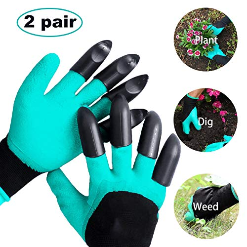 Moker, guanti da giardino con artigli, resistenti alla foratura, impermeabili, sicuri, da giardino,...
