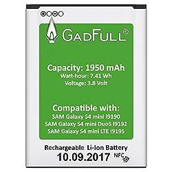 Kaufen GadFull Akku für Samsung Galaxy S4 Mini | 2017 Baujahr | Wie B500BE | Galaxy S4 Mini i9190 | Galaxy S4 Mini Dual Sim i9192 | Galaxy S4 Mini LTE i9195 | Batterie Accu Battery Galaxy