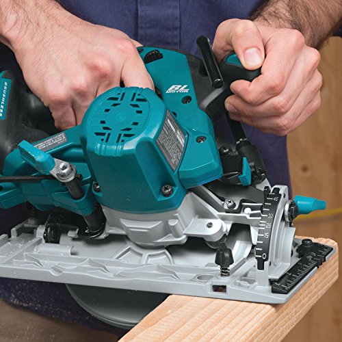 This circular saw has earned several positive reviews and many trades people really love the integrated brushless motor as the extra torque stands out compared to previous models. Apart from getting around tasks more efficiently, the brushless motor enjoys an extended lifespan and its worth paying the extra for. The Lithium Ion batteries used to power this tool are also highly resistant to overheating and will last longer through jobs as well, you will need to order batteries separately if you don't already  have any of the 18v cordless tools to borrow the batteries from.