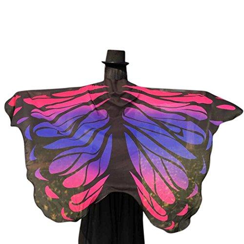 Culater® Alas de Mariposa Volando Hada Accesorio Traje Duendecillo Señoras (Rosa)
