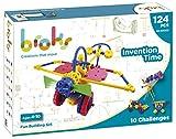 BROKS Invention Time - Juego de construcción STEM con 124 piezas encajables con engranajes y piezas flexibles para niños y niñas de 4 a 9 años - Nuevo Modelo