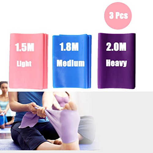 DoGeek Elastiche Fitness Banda Elastica/Fasce Resistenza Bande di Resistenza per Fisioterapia (3...