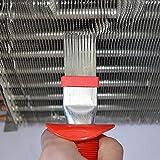 Luckyx HVAC-Lamellenkamm zum Richten von Kondensatoren und Verdampferlamellen, Reinigungsbürste für Klimaanlagen-Kondensatorlamellen, Reinigungsbürste für Kühlschlangen für universelle Kühlung