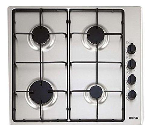 Beko HIZG64101SX - Encimera Indep, 4 Fuegos, Inox, 60Cm