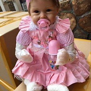 iCradle Muñecas de 18 Pulgadas 45 cm Muñecas para bebés Reborn de Aspecto Real Muñecas de Silicona Suave para bebés Bebés adorables para Mayores de 3 años