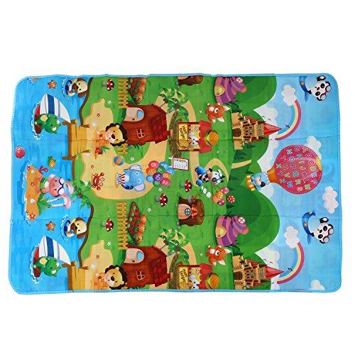 TOOGOO Tappetino da gioco per bambini 180x120x0.5cm Tappeto strisciante Tappeto per neonati Tappeto...