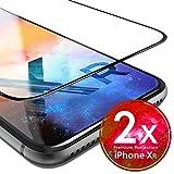 UTECTION 2X Full Screen Schutzglas 3D für iPhone XR - Perfekte Anbringung Dank Rahmen - Premium Displayschutz 9H Glas - Kompletter Schutz Vorne - Folie Schutzfolie Panzerglasfolie Ultra Clear