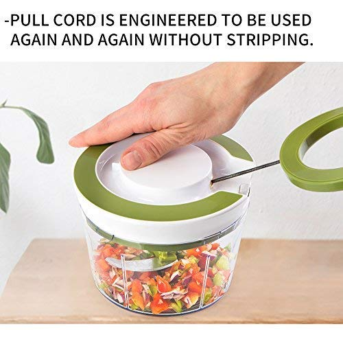 Fairedge Enterprise Jumbo (2 in 1) 850 ml Vegetable Fruit Nut Onion Chopper, Hand Meat Grinder Mixer Food Processor Slicer Shredder Salad Maker Vegetable Tools