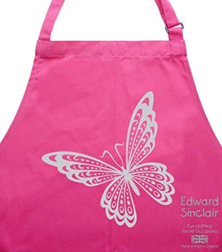 Diseño de mariposa ' con cierre de plata diseño de impresión redondas con purpurina con motivos de cocina de/molde de horno para/delantal