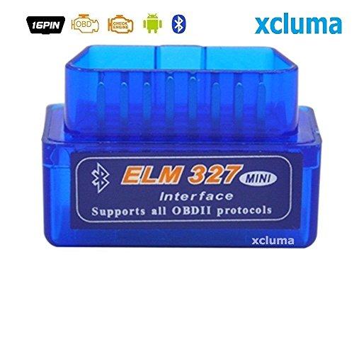 xcluma BE-000392 Super Mini Elm327 V2.1 Bluetooth Obd2 OBD-Ii Car Auto Diagnostic Scanner Android