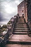 Kate de microfibra sin costuras fondo para estudio de fotografía Vintage castillo fondos ladrillo escaleras fondos fotográficos de cuento de hadas Princesa Boda