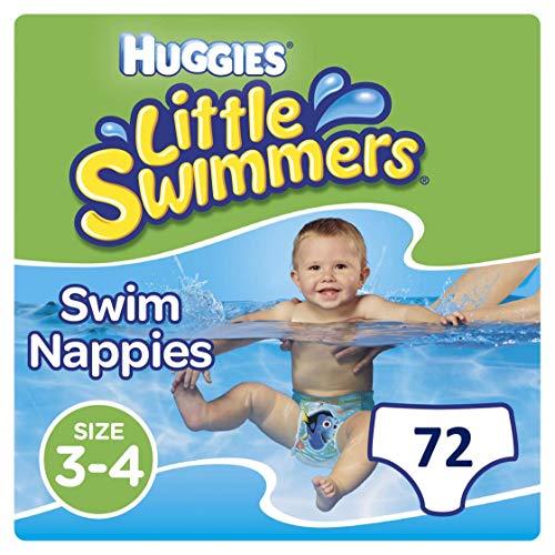 Huggies Little Swimmers Disposable Swim pannolini, Confezione da 3 (3 x 12 unità) , taglia 3 - 4