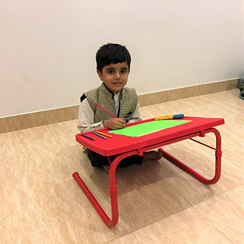 Gadget-Wagon Iron Multipurpose Foldable Table for Laptop Drawing, Study, Homework, Painting, Crafts, Reading, 50x35cm (Red)